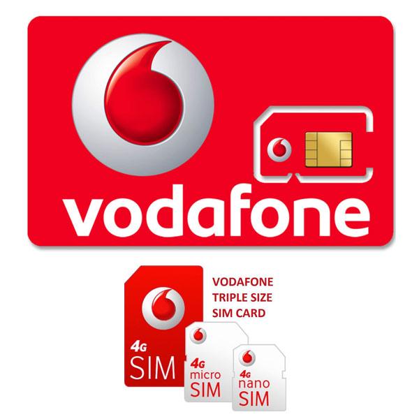 Vodafone 4G SIM (pre-registered, 6 7GB of data)
